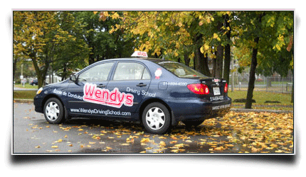 Wendys Driving School autumn driving
